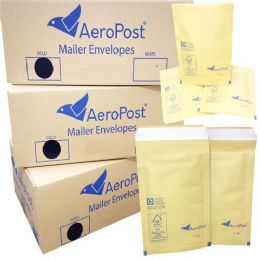 Aeropost Gold Bubble Lined Envelopes Bags 180 x 265mm Size 4